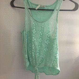 Kirra lace front tied tank top